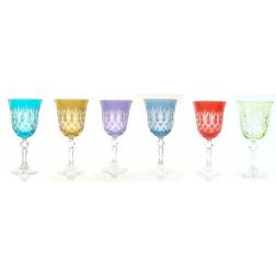 Ewa set 6 wijnglazen 0,22L Lichte kleuren