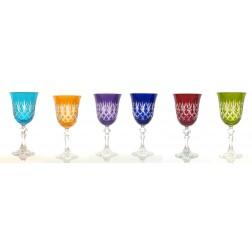 Ewa set 6 wijnglazen 0,22L Volle kleuren