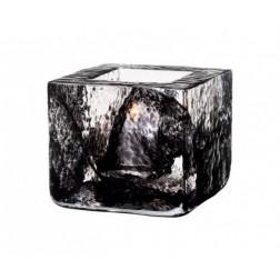 Brick Waxinelichthouder zwart