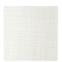 Mesh, Plat bord 31cm vierkant Line Cream
