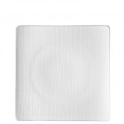 Mesh, Plat bord 31cm vierkant wit