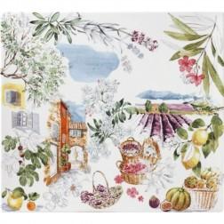 Provence Vierkante schaal plat 29,5x26