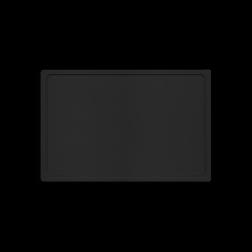 Kunststof snijplank zwart flexibel 38x25cm