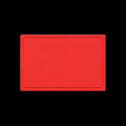 Kunststof snijplank rood flexibel 38x25cm