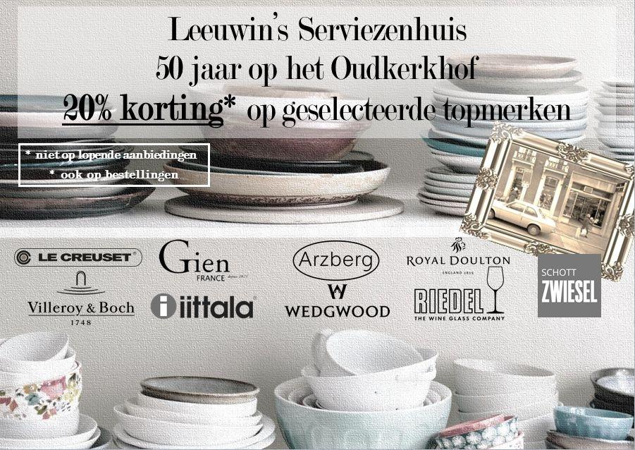 50 jaar op het Oudkerkhof: kortingsactie op serviezenhuis.com