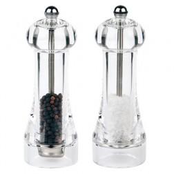 "Peper- en zoutmolen, set ""Toul"", H16cm, Acryl"