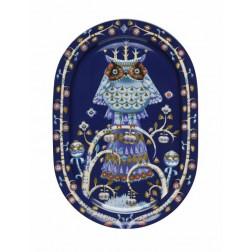 Taika Blauw, Serveerbord 41cm ovaal
