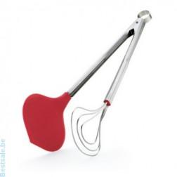 Serveertangen, Vistang silicone 33cm, rood