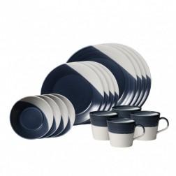Bowls of Plenty, 16-dlg. set Dark Blue
