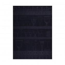 Cristal, glasdoek 80x60cm Ardoise-Slate, 100% linnen