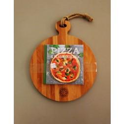 Serveerplank 35cm + pizza boek